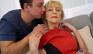 AgedLovE Tow-headed Mature Fucked Hard By Youngster
