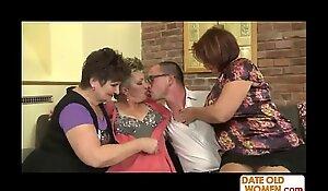 a handful of grannies on yoke shlong