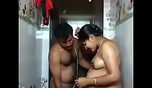 South Indian pregnant couple romance