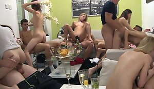 Homemade group swingers fuckfest