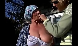 Young grandson unreservedly knows how to make his slutty grandma moan!