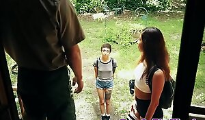 Hardfucked teen facialized by strut ranger