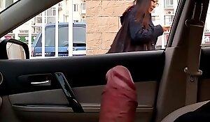 dick flash in car beijing 20181002