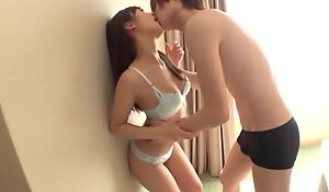 Shy Asian girl takes boyfriend's cum on her face