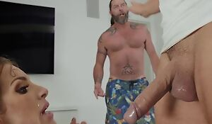 Milf pornstar fucked by neighbout in her house