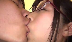Japanese Asian AV idol Katou Honoka fuck in glasses