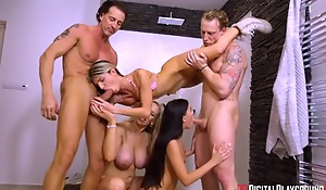 Three wild ladies show us their cock sucking and fucking skills