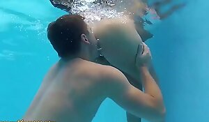 slippery nuru sex for lucky poolboy