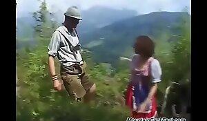 rough mountain DP with german teen