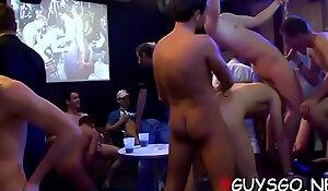 Homosexual sex party full of hawt cum