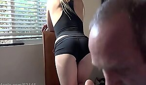 Smoking Blonde Wants Cum on her ass HD