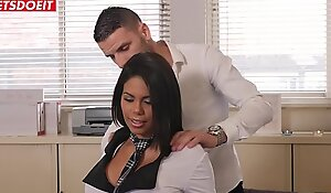 Bubble Butt Schoolgirl gets Creampied at the end of one's tether her docent added to principal