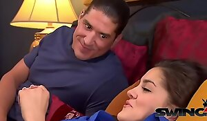 Amateur babes satisfied by young guys