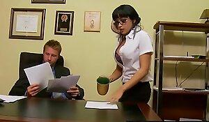 Slutty secretary (Abella Anderson) receives nailed over the desk - Brazzers